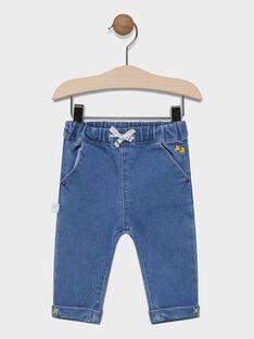 Baby boys' light, stonewashed straight cut jeans SAFAEL / 19H1BG41JEAP269