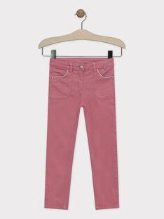 Rosa Slimfit-Hose für Mädchen SYTOMETTE / 19H2PFE1PAN307