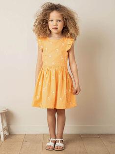 Orange und weißes Kleid mit Zitrone Druck Kind Mädchen ZIBRODETTE / 21E2PFO1CHS406