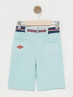 Türkisfarbene Bermuda-Shorts Jungen TINIBAGE / 20E3PGP4BERC200