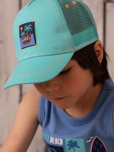 Türkisfarbene Mütze für Jungen ZOCAPAGE / 21E4PGU1CHA202