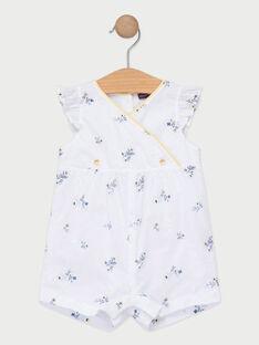 Baby-Jumpsuit mit Blumenprint für Mädchen, ecrufarben TAOPHELIE / 20E1BFO1CBL000