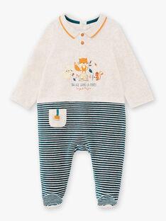 Baby Junge Langarm-Strampler mit Streifen und Fantasie-Motiv BEARTHUR / 21H5BG62GRE943