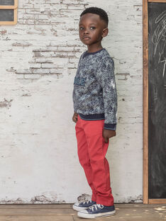 Gerade Hose für Jungen mit rotem Gürtel BUXIGAGE2 / 21H3PGB4PAN501