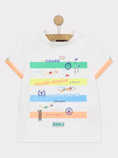 Weißes kurzärmeliges T-Shirt RUACIAGE / 19E3PGP1TMC000