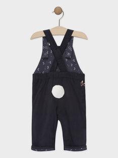 Dunkelgraue Baby-Latzhose für Jungen SAWESLEY / 19H1BGP1SAL941