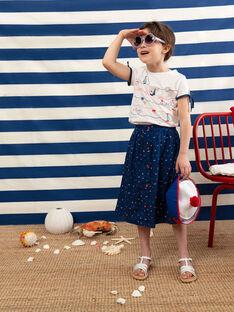 Langer marineblauer Rock Mädchen TUIJAETTE / 20E2PFW1JUP070