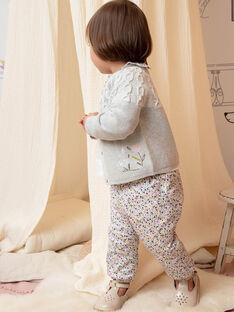 Baby Girl's Pink und Ecru Floral Print Hosen BACHAYMA / 21H1BF21PAN001