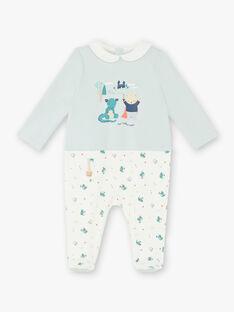 Weißer und grüner Wasserkleider-Baby ZEBRAN / 21E5BG15GRE020