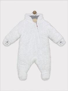 Schneeanzug Baby Junge Ecru Kunstpelz SIPIERROT / 19H1BGF1PIL009