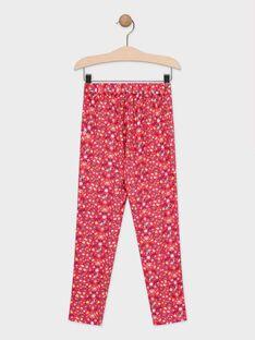 Hose mit rosa Blumendruck für Mädchen TAEFIETTE 2 / 20E2PFM2PANF510