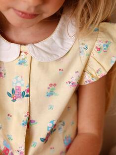 Gelber Schlafanzug für Mädchen ZELAETTE / 21E5PF12PYJB102
