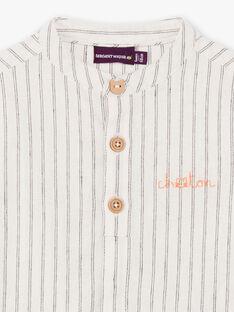 Baby Boy's Navy Blue Stripe Shirt BADIEGO / 21H1BG21CHM632