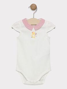 Body naturweiß mit bedrucktem Kragen Baby Mädchen SACECILE / 19H1BF31BOD001