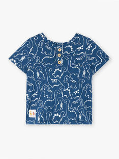 Baby Junge blaues T-Shirt ZAEFRON / 21E1BGB1TMCC230
