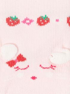 Hellrosa farbige Socken Maus Animation ZAAYA / 21E4BFJ2SOB301