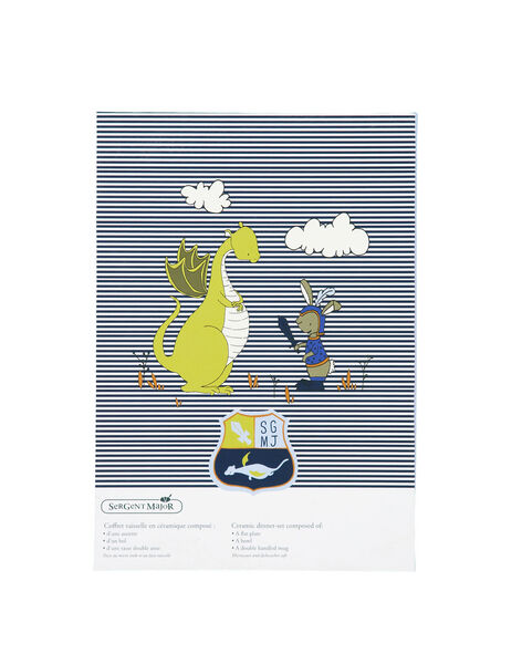 Blau-weißes Mahlzeitenset ROPASBOY / 19EZLAX1KTR001