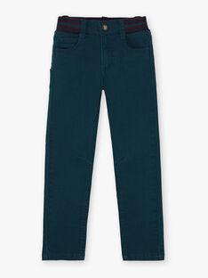 Smaragdgrüne Hose für Jungen BETROFAGE / 21H3PG93PAN608