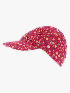 Mütze mit Blumendruck für kleine Mädchen TIUBETTE / 20E4PFQ1CHAF510
