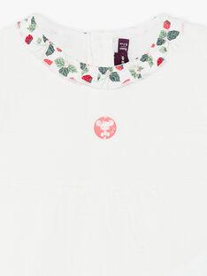 Kurzärmelige ungebleichte Bluse aus schickem Jersey ZAAMELIE / 21E1BFJ1BRA001