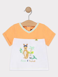 Zweifarbiges Baby-T-Shirt für Jungen TAWAPI / 20E1BGX1TMC001