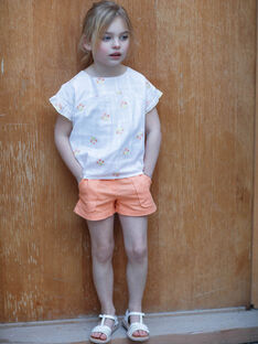 Orange Shorts Kind Mädchen ZIJOETTE / 21E2PFO1SHO406