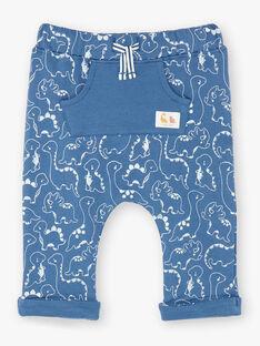 Blau bedruckte Jogginghose ZAEMILIO / 21E1BGB1JGBC230