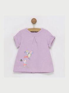 Violettes kurzärmeliges T-Shirt RAIRIS / 19E1BFD1TMC328