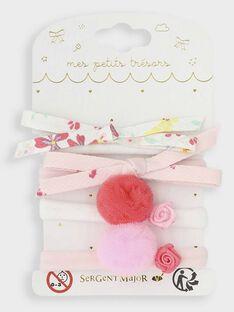 Satz mit 4 Gummibändern für besondere Anlässe für kleine Mädchen TYNOUETTE / 20E4PFKBELA321