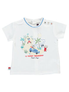 Weißes kurzärmeliges T-Shirt RAPABLO / 19E1BGH1TMC000