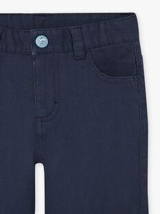 Mitternachtsblaue Hose für Jungen BIOXIAGE / 21H3PGL1PANC205
