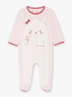 Baby Mädchen rosa und weiß Strampler BEBIBOU / 21H5BF65GRED327