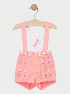 Bestickte Baby-Shorts für Mädchen, rosa TAQALY / 20E1BFP1SHOD323