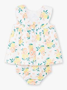 Weißes Baby Mädchen Kleid ZANOEMIE / 21E1BFO1ROB000