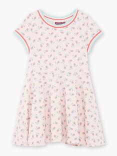 Rosa Kleid mit Blumendruck aus Baumwolle ZERAYETTE / 21E2PFI2ROBD319