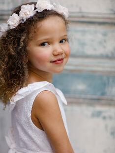 Kleid mit englischer Stickerei für Mädchen, ecru TYROETTE / 20E2PFJ4ROB000