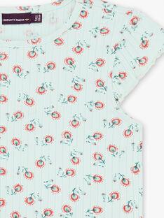 Grünes T-Shirt mit Blumendruck ZETIZETTE 1 / 21E2PFI2TMC629