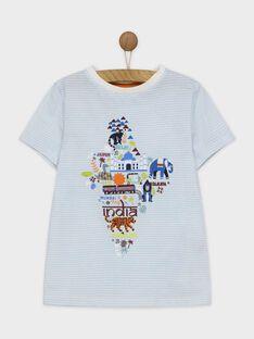 Blaues kurzärmeliges T-Shirt ROMITAGE / 19E3PGM1TMC001