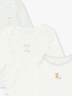 Satz mit 3 sortierten Baby-Bodysuits für Jungen ZEDANY / 21E5BG31BDL001