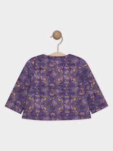 Bedruckte Bluse lila Baby Mädchen SAGIANE / 19H1BF61CHE712