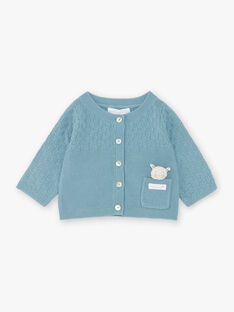 Baby Junge blau Ente stricken Strickjacke ZOWEN / 21E0CGY1GIL714