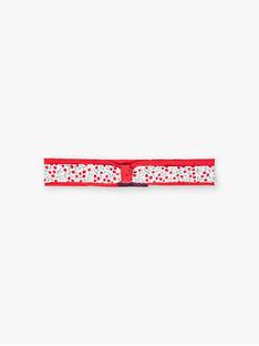 Baby Mädchen rot Stirnband mit Blumendruck BAAMITIE / 21H4BF11BAN001