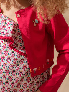 Pfingstrose-Strickjacke für Mädchen TIUTETTE / 20E2PFQ1CARF510
