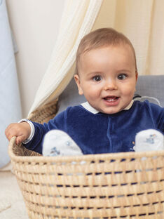 Marineblau und weiß Baby Junge Strampler und Mütze BOSCO B / 21H0NG42GRE070