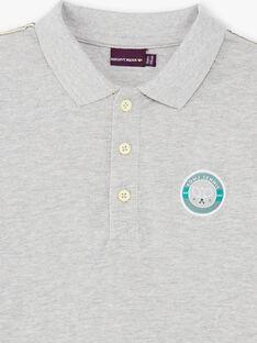 Graues Poloshirt für Jungen ZEPOPAGE / 21E3PGO2POLJ920