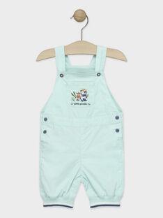 Kurze Baby-Latzhose für Jungen, türkisblau TAPIEL / 20E1BGP1SACC200