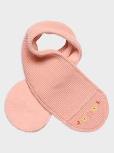 Baby-Schal kraus rechts gestrickt für Mädchen, rosa Schaumstoffpunkt TABICHE / 20E4BFB1ECH307