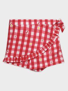 Badeshorts in Vichykaro für kleine Mädchen TIJOETTE / 20E4PFI1SDB050