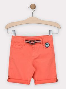 Korallenrote Bermuda-Shorts Jungen TITOAGE / 20E3PGP2BER415