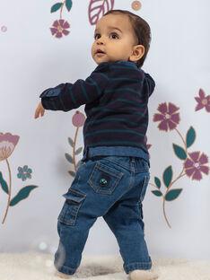 Baby-Jungen-Jeans mit mehreren Taschen BAJEAN / 21H1BG91JEAP269